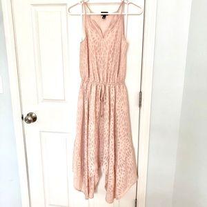 Blush pink boho hanky-hem dress